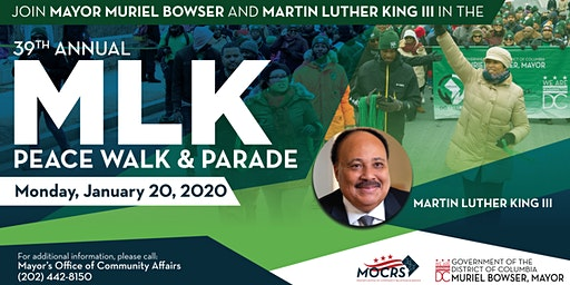 Join Mayor Muriel Bowser in the 2020 Martin Luther King Jr. Parade