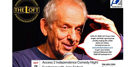 Access 2 Independence Comedy Fundraiser with Jerry Farber tickets