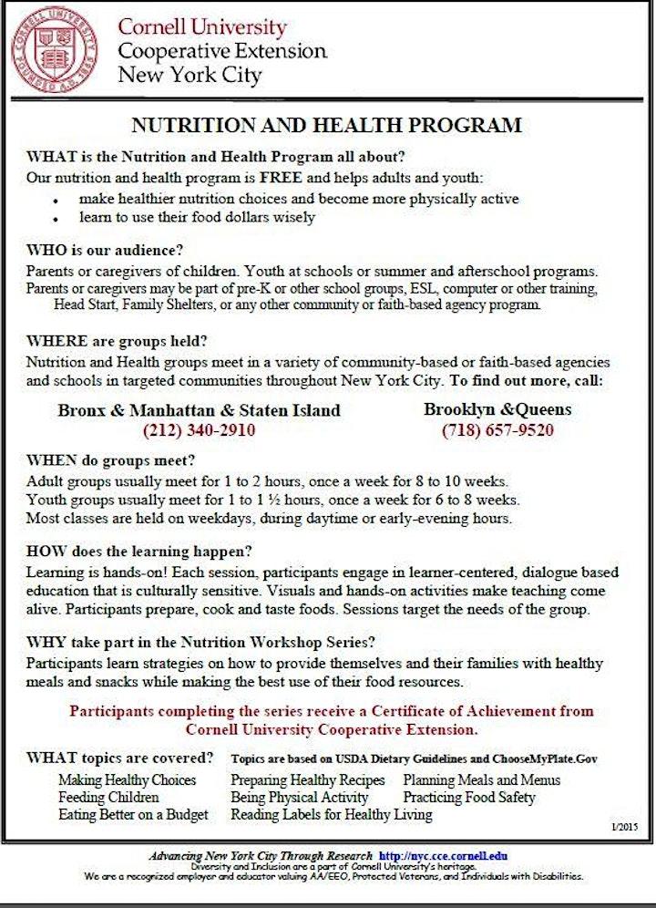 FREE Nutrition Workshop! image