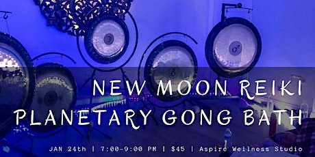New Moon Reiki Planetary Gong Bath tickets