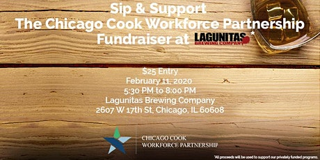 Sip & Support The Chicago Cook Workforce Partnership at Lagunitas tickets