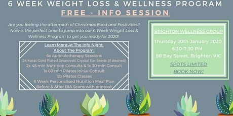 6 Week Weight Loss & Wellness Program - Achieve your health goals in 2020! tickets