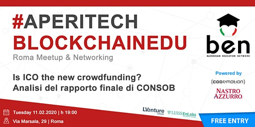 ROMA - Meetup #AperiTech Febbraio di Blockchain Education Network Italia
