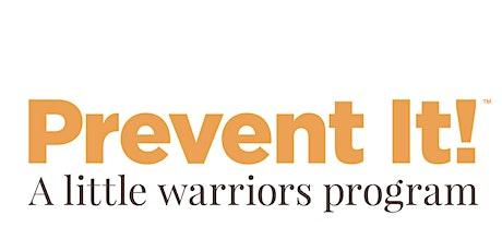 Little Warriors Prevent It! workshop tickets