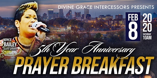 Divine Grace Intercessors celebrates 5th Anniversary Prayer Breakfast