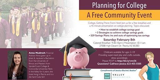 Planning for College: A FREE Community Event