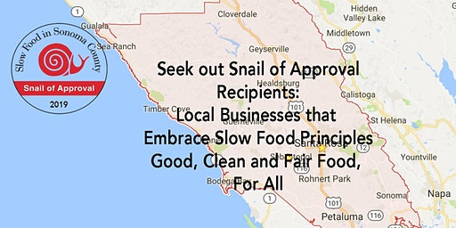 3rd Annual Snail of Approval-Slow Food in Sonoma County Awards Ceremony