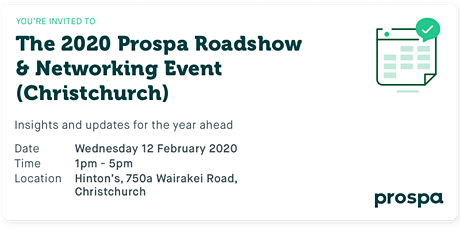 The 2020 Prospa Roadshow  & Networking Event (Christchurch) tickets