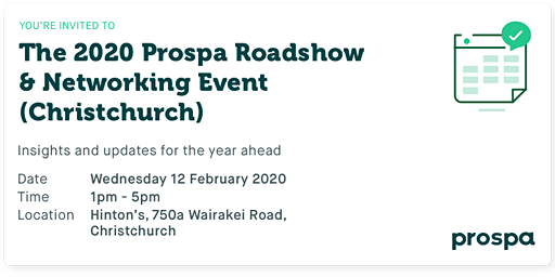The 2020 Prospa Roadshow  & Networking Event (Christchurch)