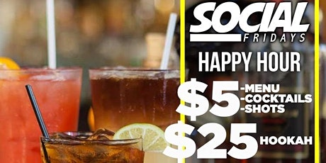 Social Fridays (HAPPY HOUR)  @ CAFE CIRCA EVERY FRIDAY tickets