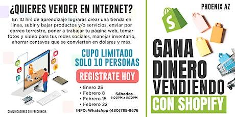 CREA TU TIENDA EN INTERNET Shopify / COMUNICADORES SIN FRECUENCIA tickets