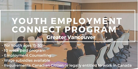 Information Session - Youth Employment Connect Program tickets