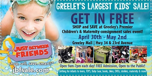 JBF Greeley FREE Admission Pass Spring 2020