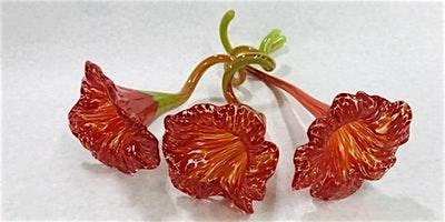 Create your own  Hot Glass Sculpted FLOWER with Indiana Artisan: Lisa Pelo