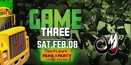 Outlaws Park and Party Rush Vs Colorado Mammoth tickets