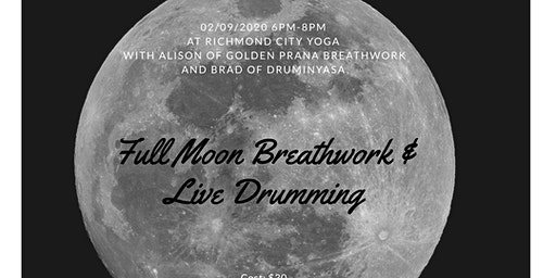 Full Moon Breathwork & Live Drumming