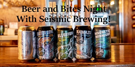 Beer and Bites with Seismic Brewing at Jax White Mule! tickets