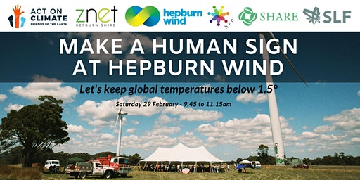 Human sign at Hepburn Wind