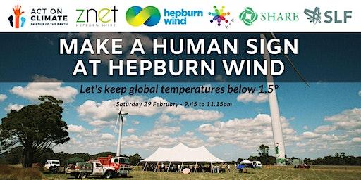 Human sign at Hepburn Wind