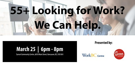 Job Search for Workers Aged 55+: A Free Career Workshop tickets