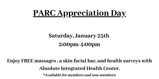 Plainfield PARC Appreciation Day- Absolute Integrated Health