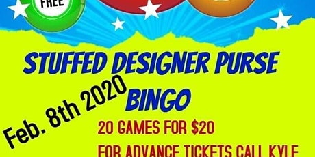 Stuffed Designer Purse Bingo Fundraiser For WVIF tickets