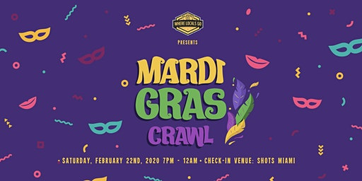 Miami Mardi Gras Bar Crawl Wynwood