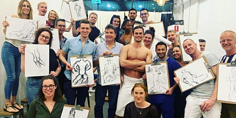 Mardi Gras Eve Special Male Model Life Drawing Class tickets