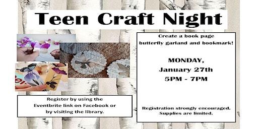 Tween/Teen Craft Night: Book Page Butterfly Garland & Bookmark