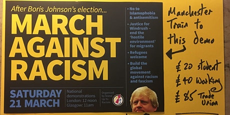 Manchester train to London for the March Against Racism #M21 tickets