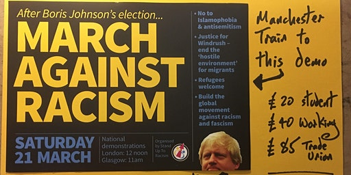 Manchester train to London for the March Against Racism #M21