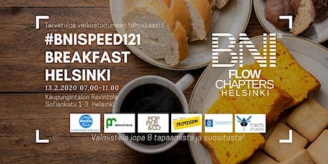 #BNISPEED121 Breakfast Helsinki tickets