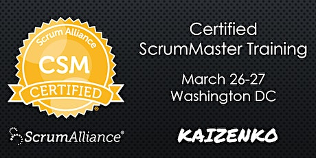 Certified Scrum Master (CSM) Training Workshop in Washington DC by Fadi Stephan tickets