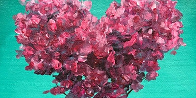 Kids & Grown-Ups LOVE Tree Valentine's Paint Party at Brush & Cork