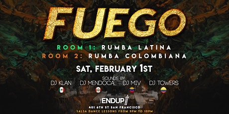 FUEGO: Latin Dance Party. 2 Rooms tickets