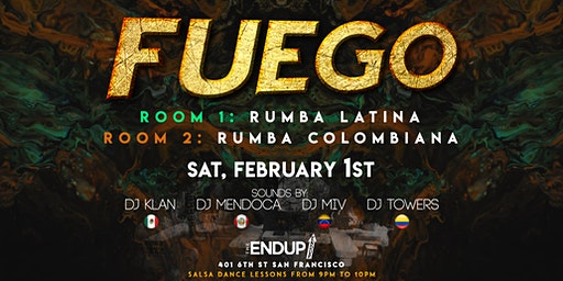 FUEGO: Latin Dance Party. 2 Rooms