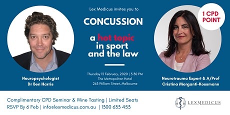 CPD Seminar - Concussion, a hot topic in sport and the law tickets