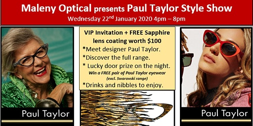 Maleny Optical presents Paul Taylor Style Show
