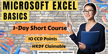 Microsoft Excel Basics   MS Excel   1-day Short Course   10 CCD CIDB points tickets