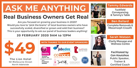 Ask Me Anything - Real Business Owners Get Real! tickets