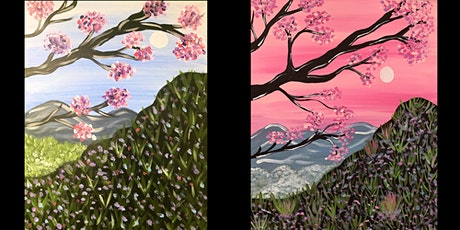 "Adult Open Paint (18yrs+) ""Mountain Blossoms"" Select Your Own Colors tickets"
