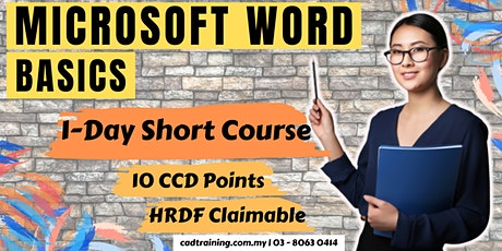 Microsoft Word Basics   1-day Short Course   10 CCD CIDB points tickets