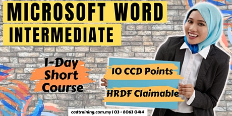 Microsoft Word Intermediate | MS Word | 1-day Short Course | 10 CCD CIDB points tickets