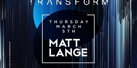 Matt Lange at Temple Discounted Guestlist - 3/05/2020 tickets