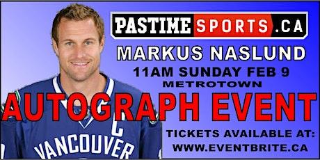 Markus Naslund Autograph Event tickets