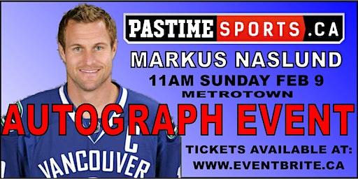 Markus Naslund Autograph Event