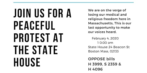 Protest Against MA Bills S2359/H4096 & H3999