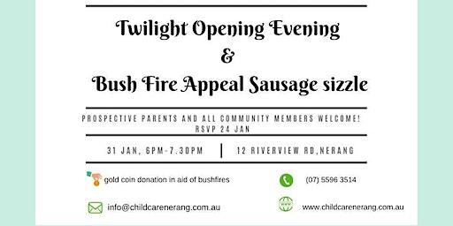 Bush fire appeal sausage sizzle