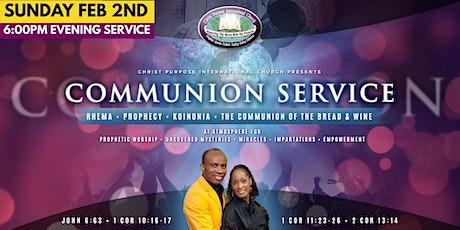Communion† Service tickets