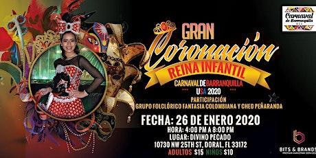 Coronación Reina Infantil Carnaval De Barranquilla USA 2020 tickets
